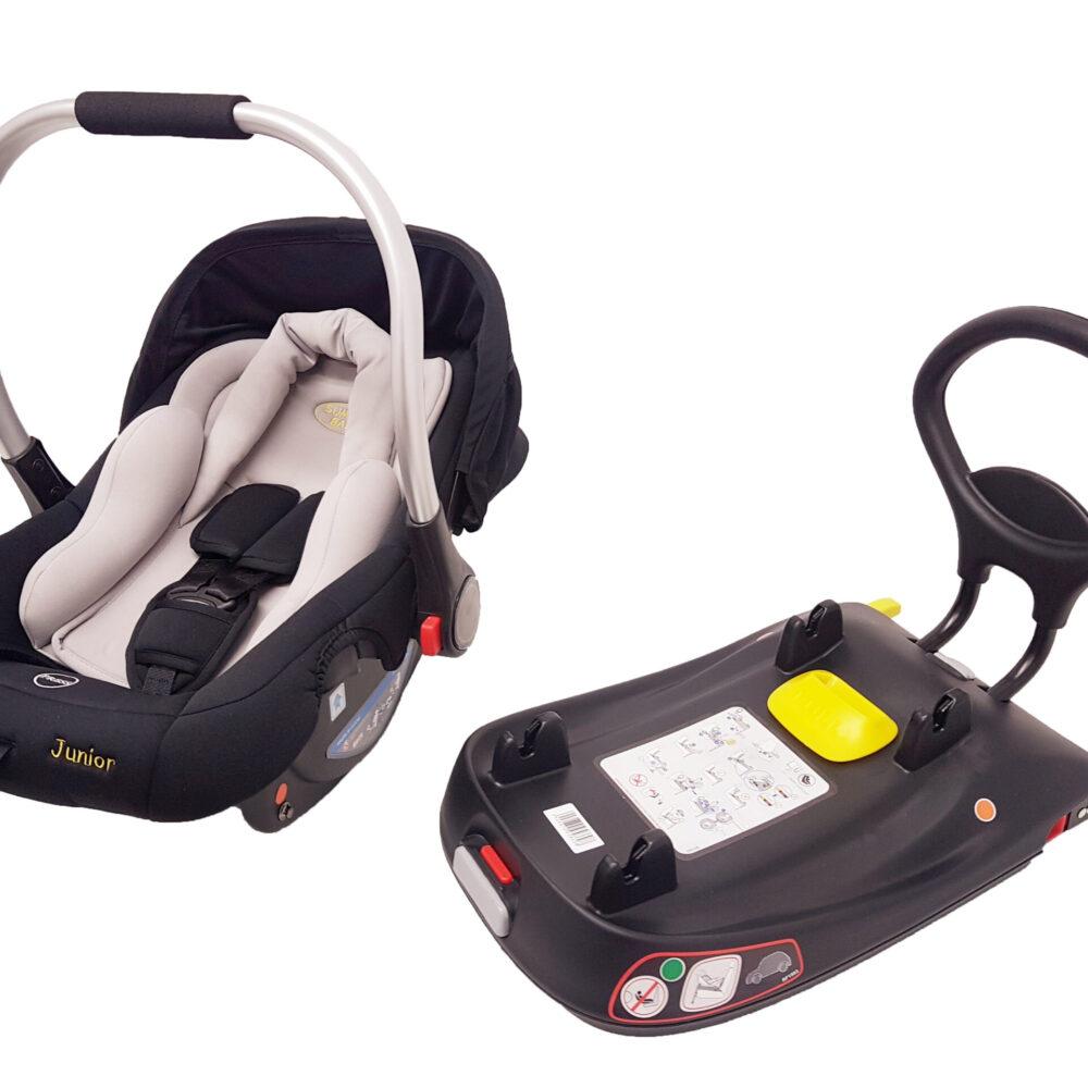 Kindersitz JUNIOR 0-13 kg + ISOFIX BASIS