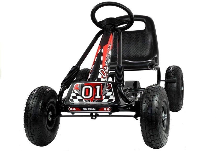 Go-Kart Max 35 kg Kinderfahrzeug (3-5 Jahre) Tretfahrzeug Go-Kart Tretauto Luftbereifung