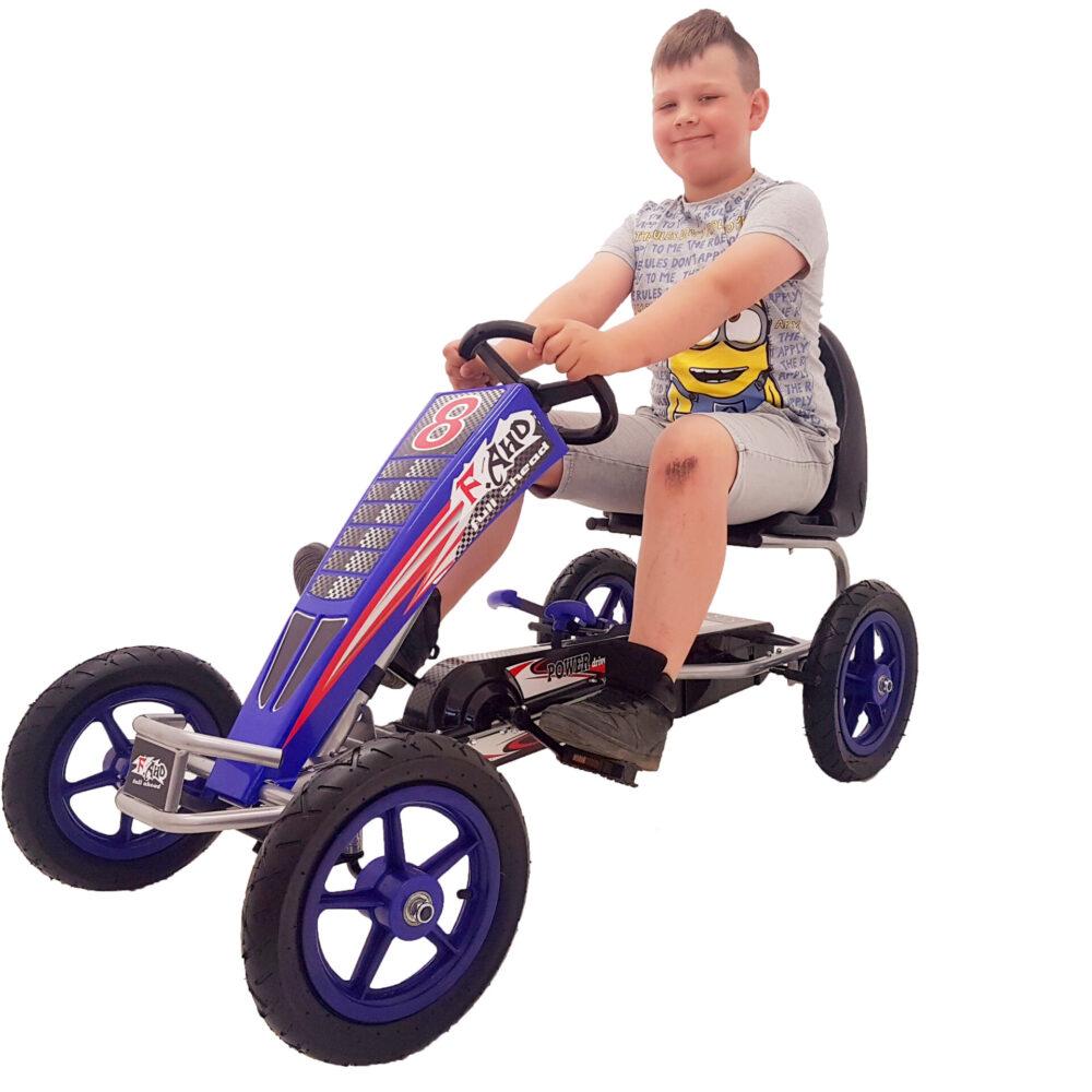 Go-Kart Max 60 kg Kinderfahrzeug (5-12 Jahre ) Tretfahrzeug Go-Kart Tretauto Luftbereifung