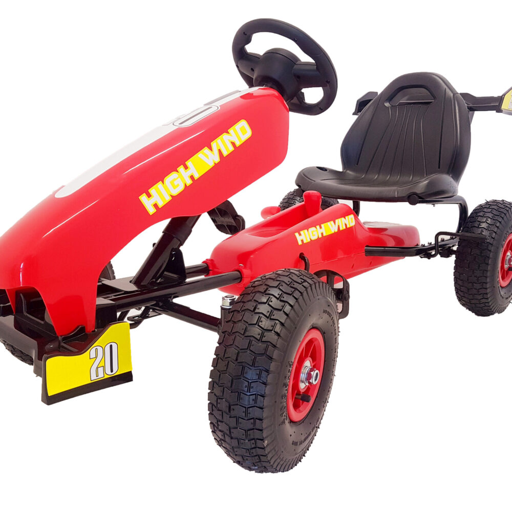 Go-Kart Max 40 kg Kinderfahrzeug (3-5 Jahre ) Tretfahrzeug Go-Kart Tretauto Luftbereifung