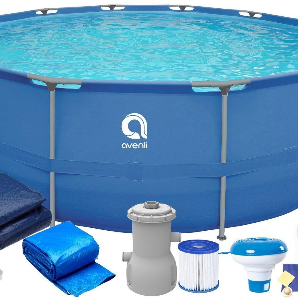 Frame Stahlrahmen Pool 366 x 76 cm 16in1 Avenli Swimming Schwimmbad Schwimmbecken Gartenpool