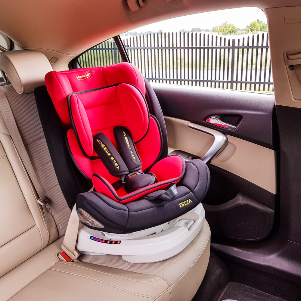 Auto Kindersitz 360° 0-36 kg IBIZA mit Gurtbefestigung im Auto